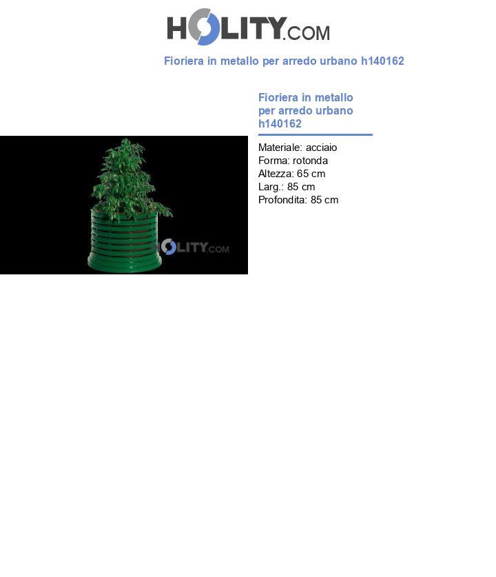 Fioriera in metallo per arredo urbano h140162