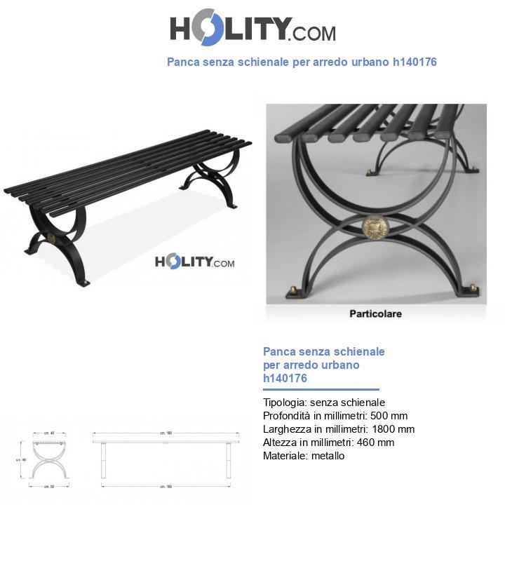 Panca senza schienale per arredo urbano h140176