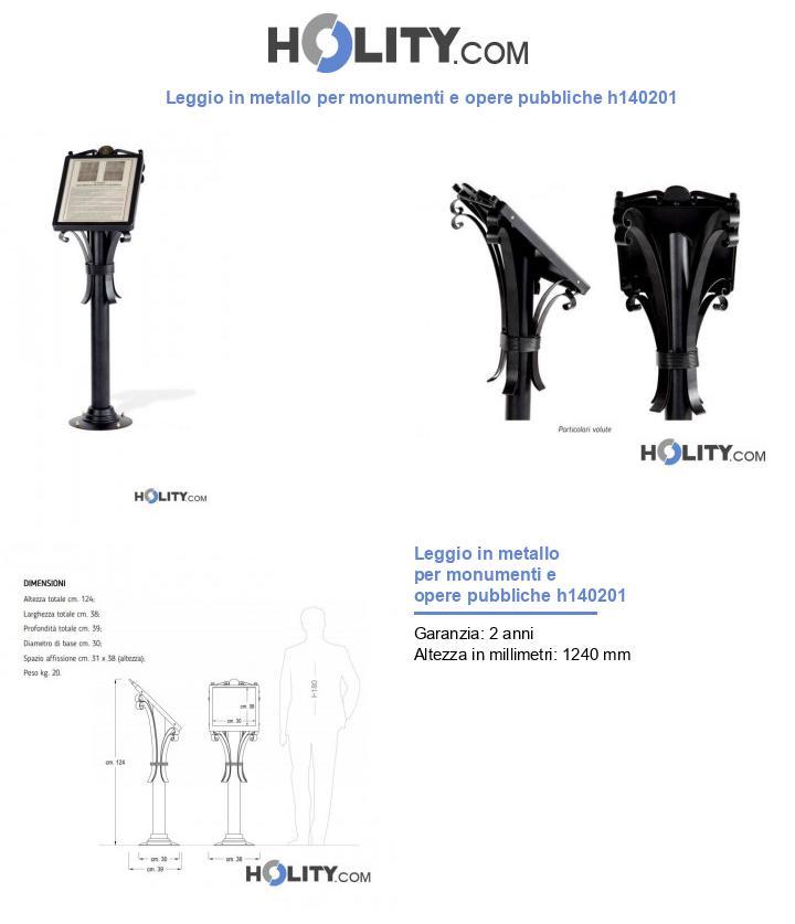 Leggio in metallo per monumenti e opere pubbliche h140201