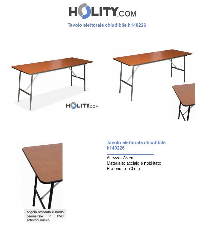 Tavolo elettorale chiudibile h140226