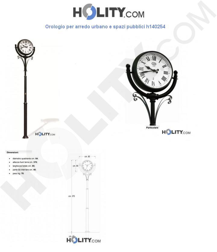 Orologio per arredo urbano e spazi pubblici h140254
