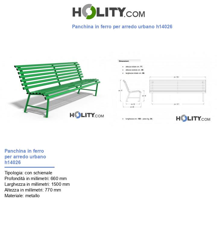Panchina in ferro per arredo urbano h14026