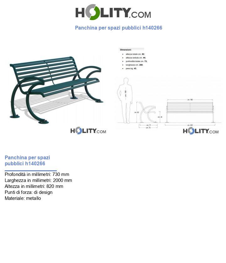 Panchina per spazi pubblici h140266