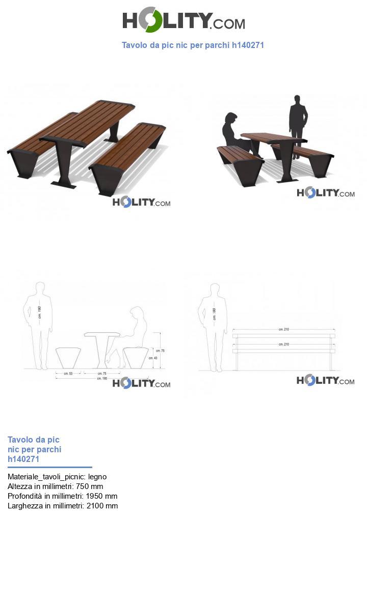 Tavolo da pic nic per parchi h140271