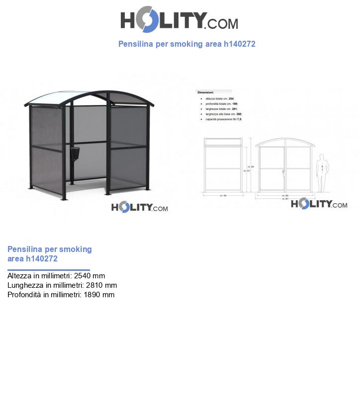 Pensilina per smoking area h140272