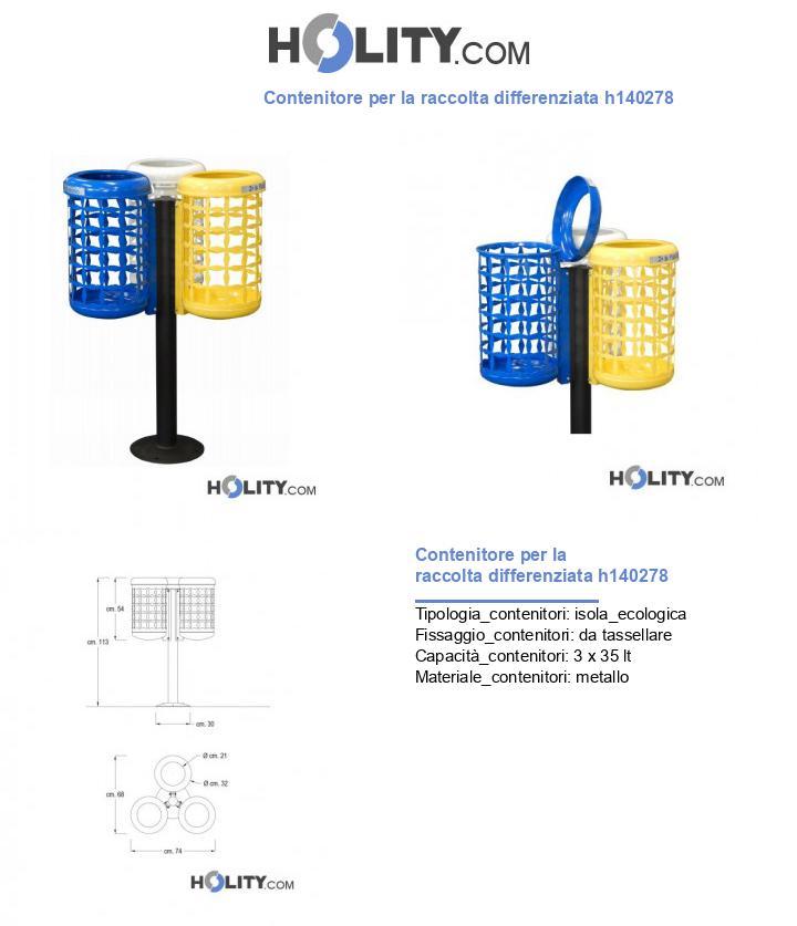 Contenitore per la raccolta differenziata h140278