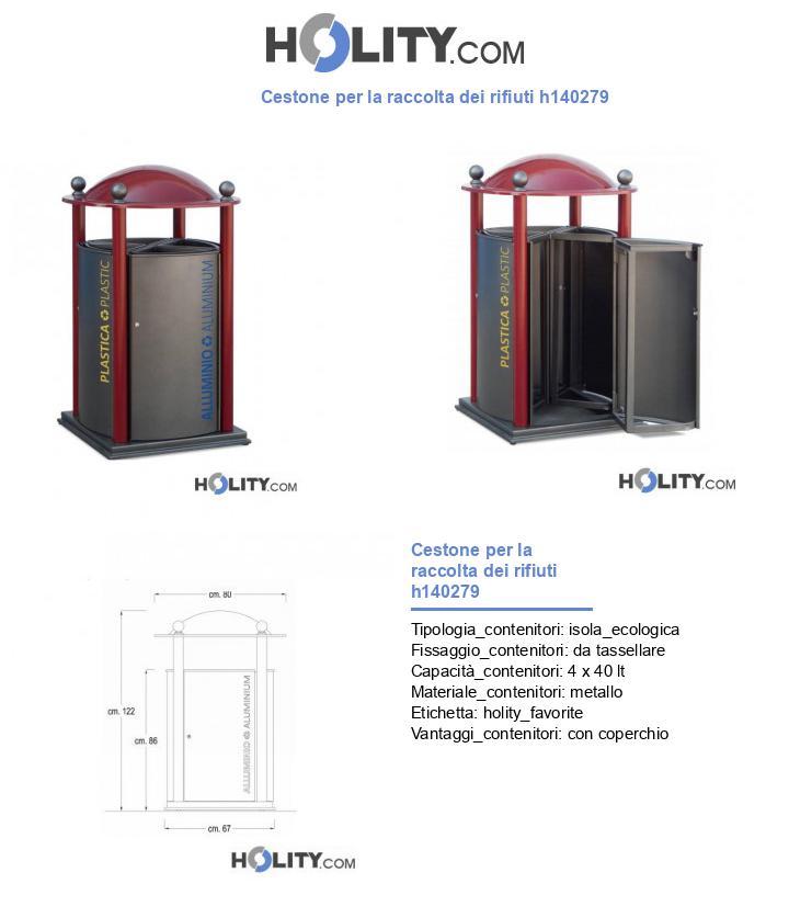 Cestone per la raccolta dei rifiuti h140279