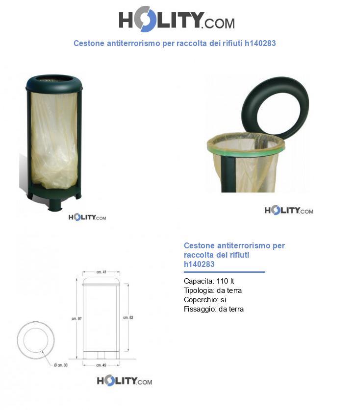 Cestone antiterrorismo per raccolta dei rifiuti h140283