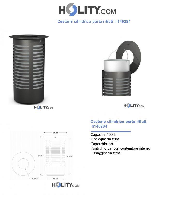 Cestone cilindrico porta-rifiuti  h140284