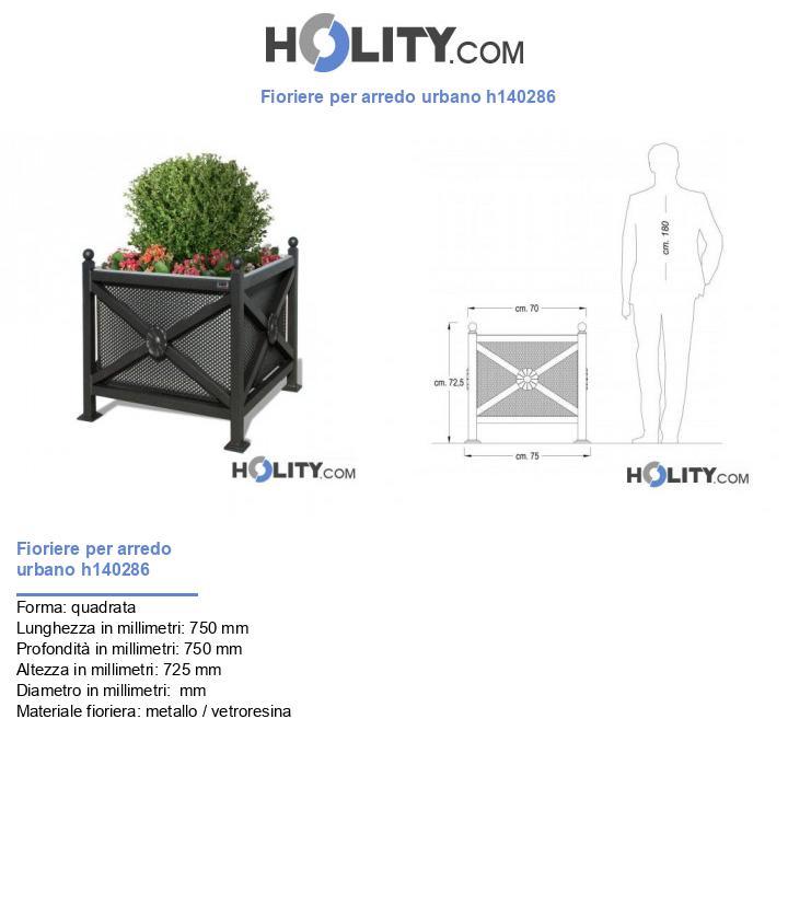 Fioriere per arredo urbano h140286