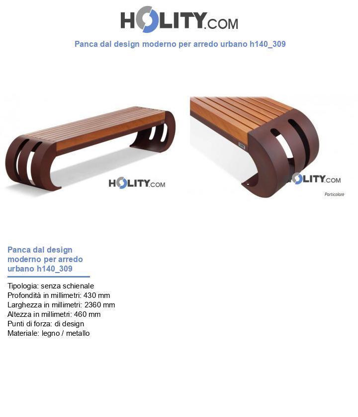 Panca dal design moderno per arredo urbano h140_309