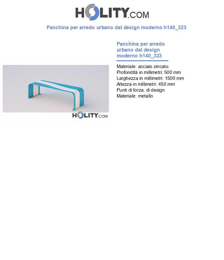 Panchina per arredo urbano dal design moderno h140_323
