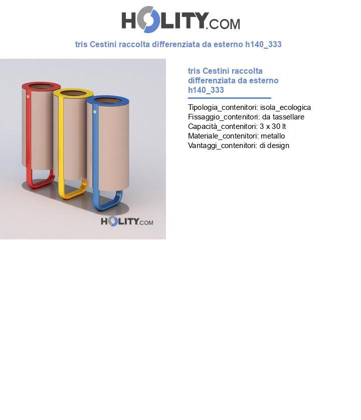 tris Cestini raccolta differenziata da esterno h140_333