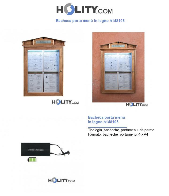 Bacheca porta menù in legno h148105