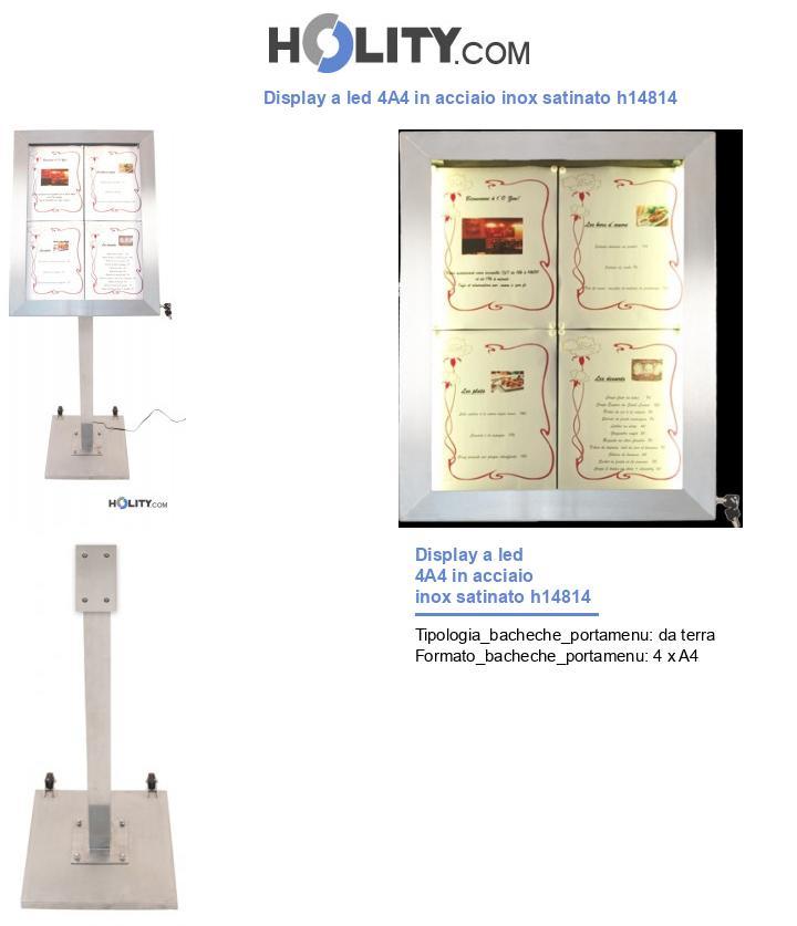 Display a led 4A4 in acciaio inox satinato h14814