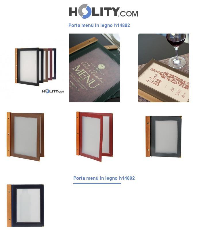 Porta menù in legno h14892