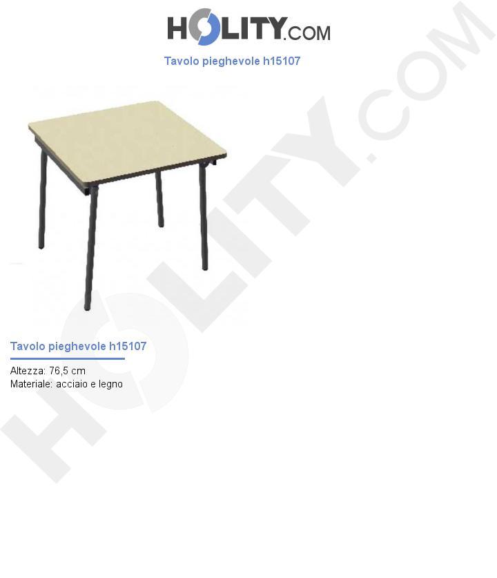 Tavolo pieghevole h15107
