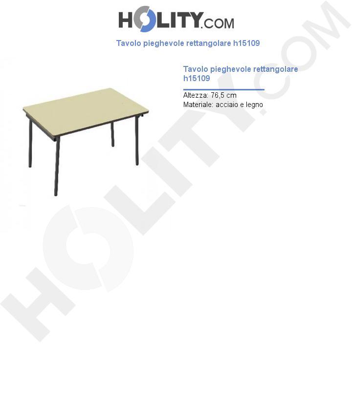 Tavolo pieghevole rettangolare h15109