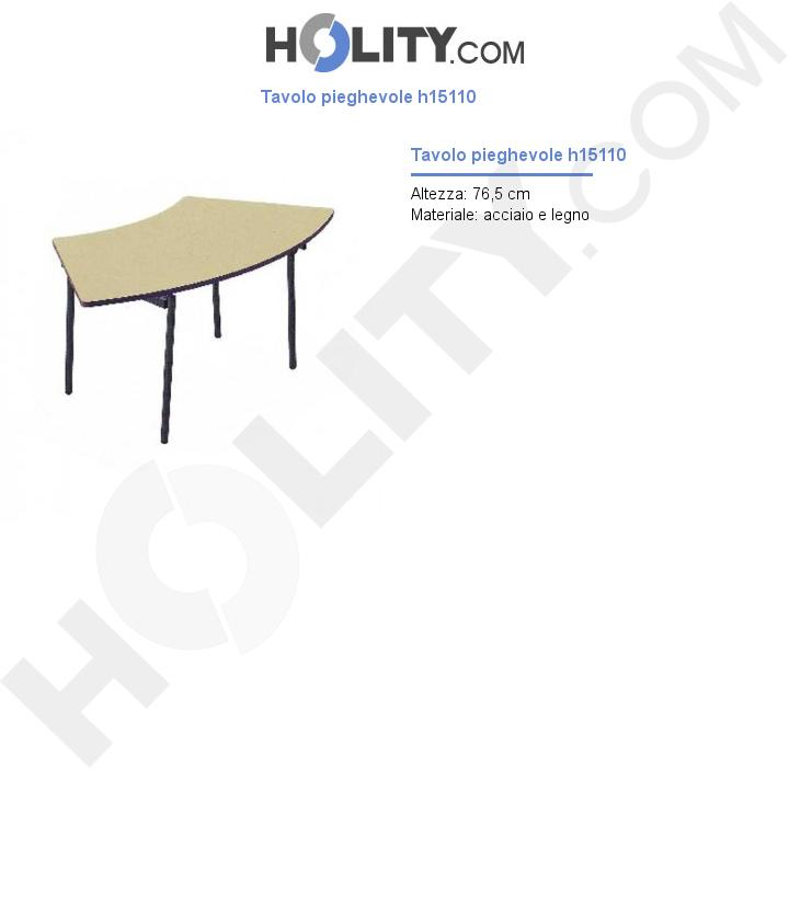 Tavolo pieghevole h15110