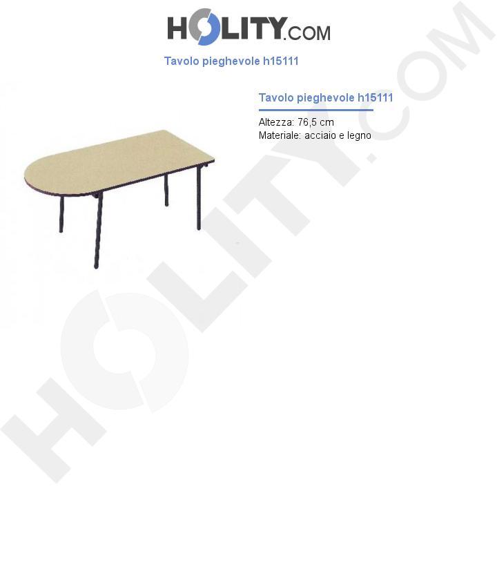 Tavolo pieghevole h15111