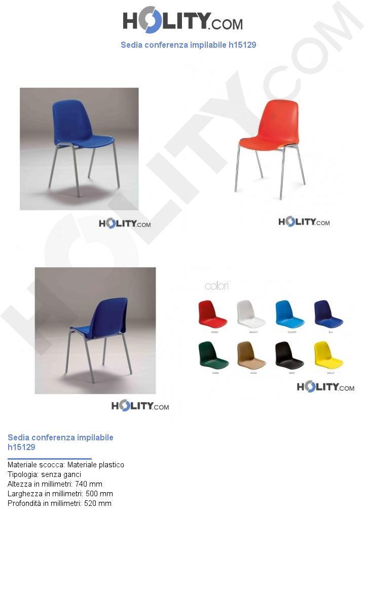 Sedia conferenza impilabile h15129