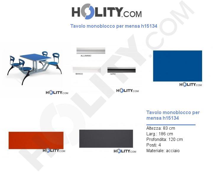 Tavolo monoblocco per mensa h15134