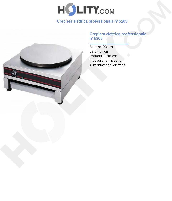 Crepiera elettrica professionale h15205