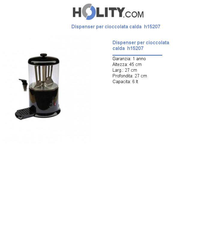 Dispenser per cioccolata calda  h15207