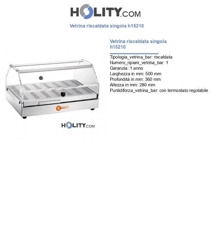 Vetrina riscaldata singola h15210