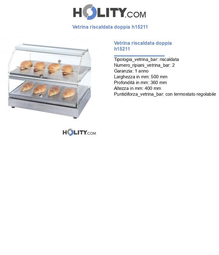 Vetrina riscaldata doppia h15211