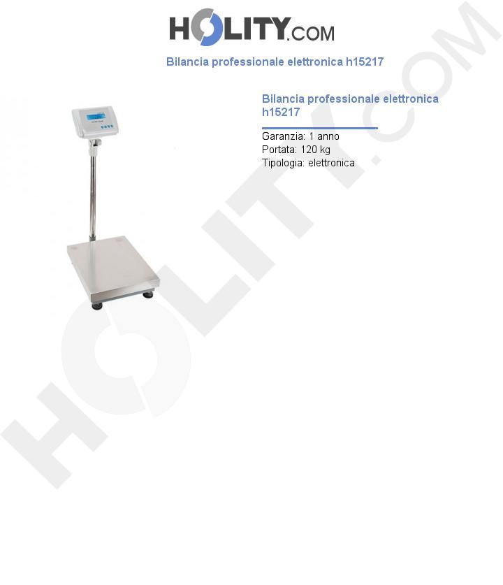 Bilancia professionale elettronica h15217