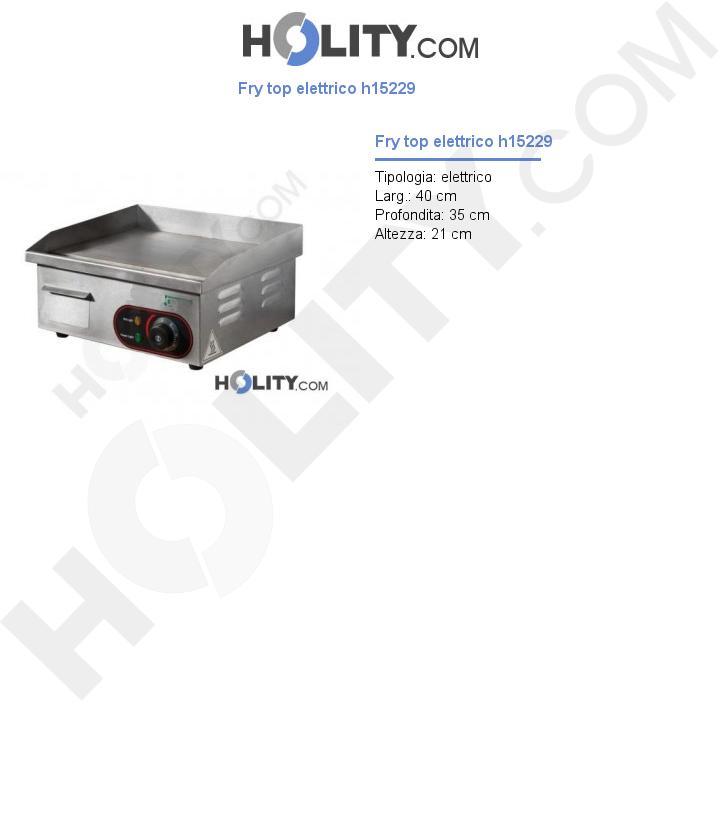 Fry top elettrico h15229