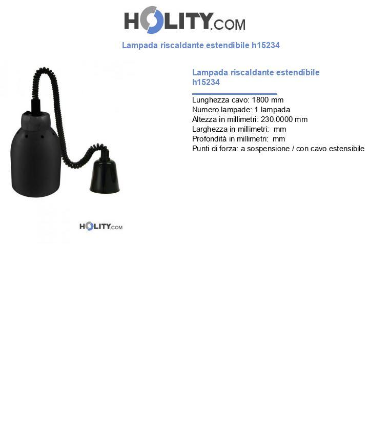 Lampada riscaldante estendibile h15234