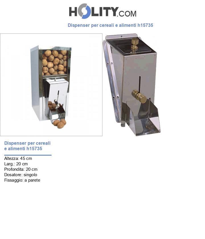 Dispenser per cereali e alimenti h15735