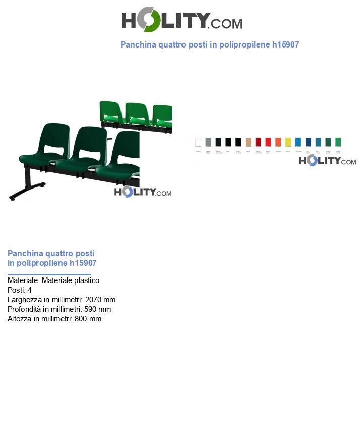 Panchina quattro posti in polipropilene h15907
