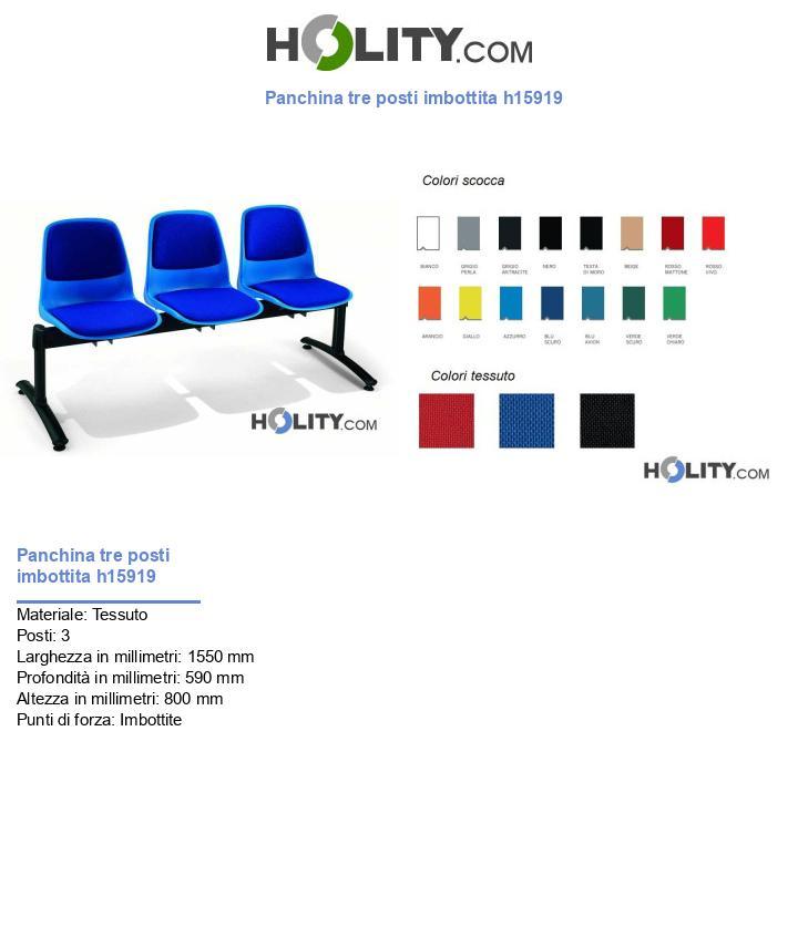 Panchina tre posti imbottita h15919