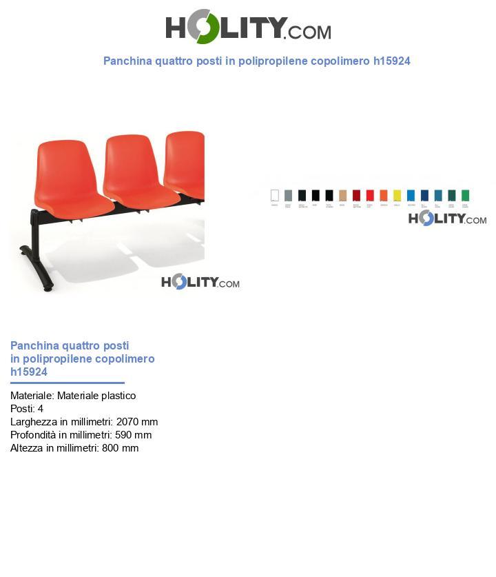 Panchina quattro posti in polipropilene copolimero h15924
