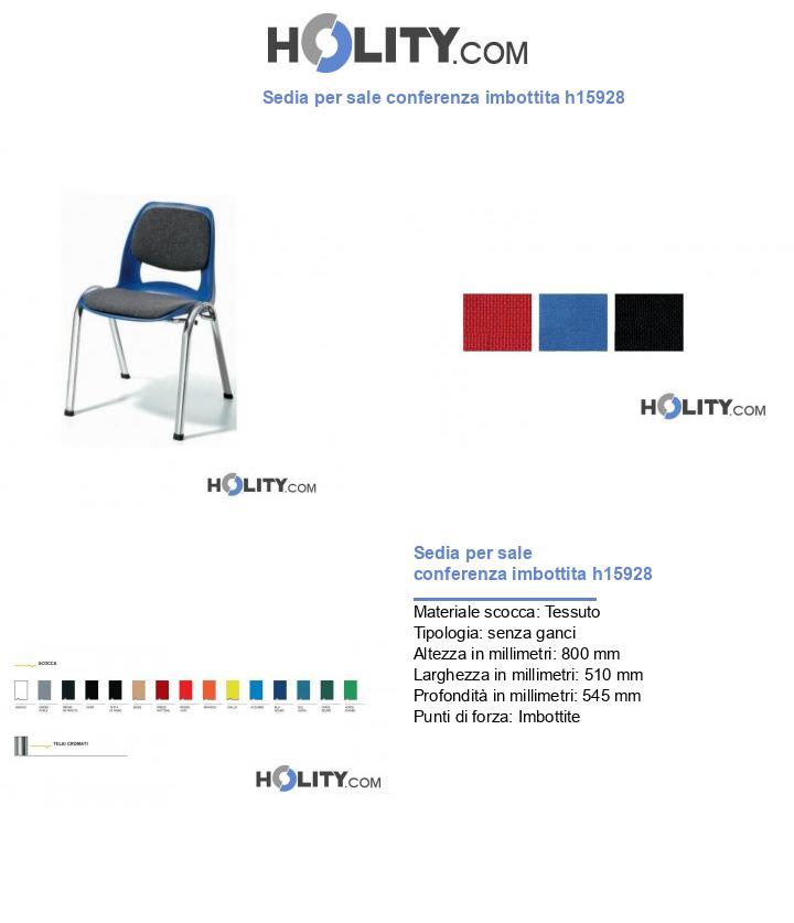 Sedia per sale conferenza imbottita h15928