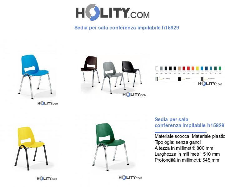 Sedia per sala conferenza impilabile h15929