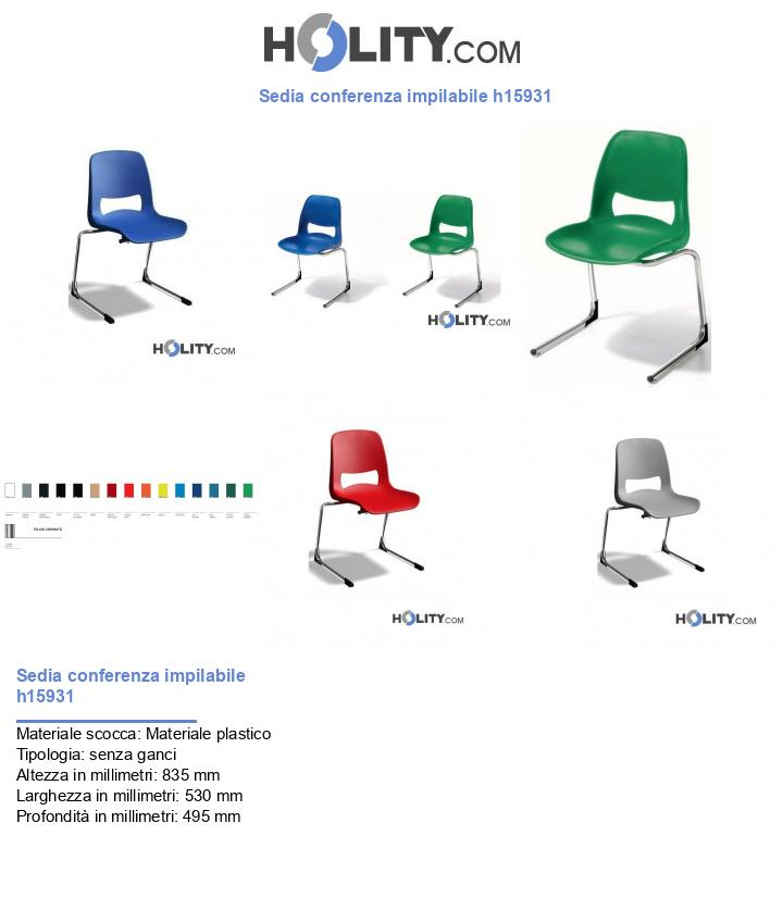 Sedia conferenza impilabile h15931