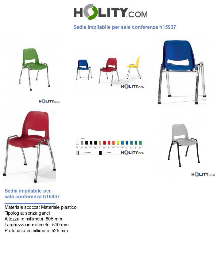 Sedia impilabile per sale conferenza h15937