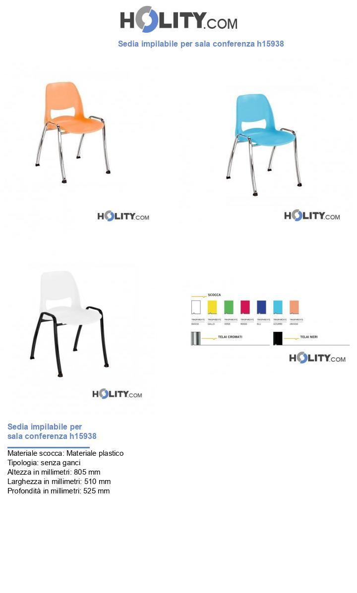 Sedia impilabile per sala conferenza h15938