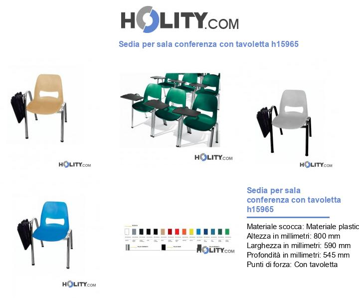 Sedia per sala conferenza con tavoletta h15965