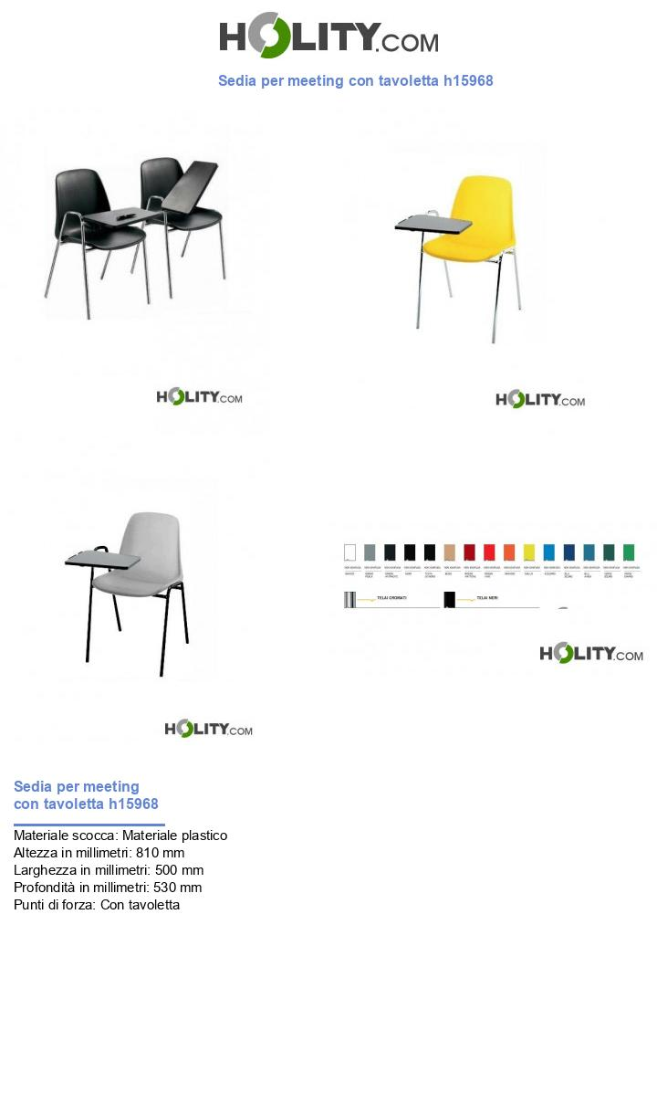 Sedia per meeting con tavoletta h15968