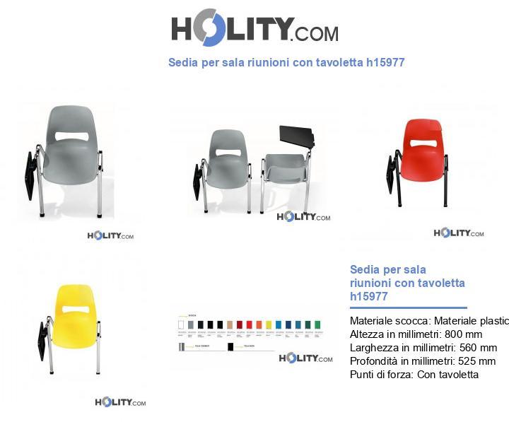 Sedia per sala riunioni con tavoletta h15977