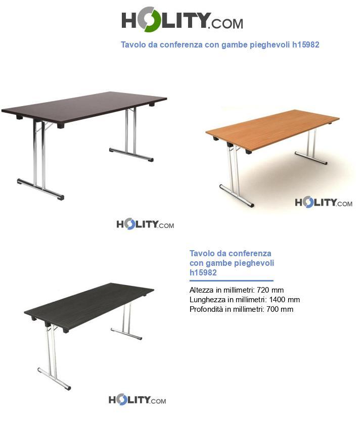 Tavolo da conferenza con gambe pieghevoli h15982