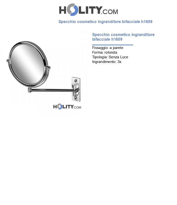 Specchio cosmetico ingranditore bifacciale h1609