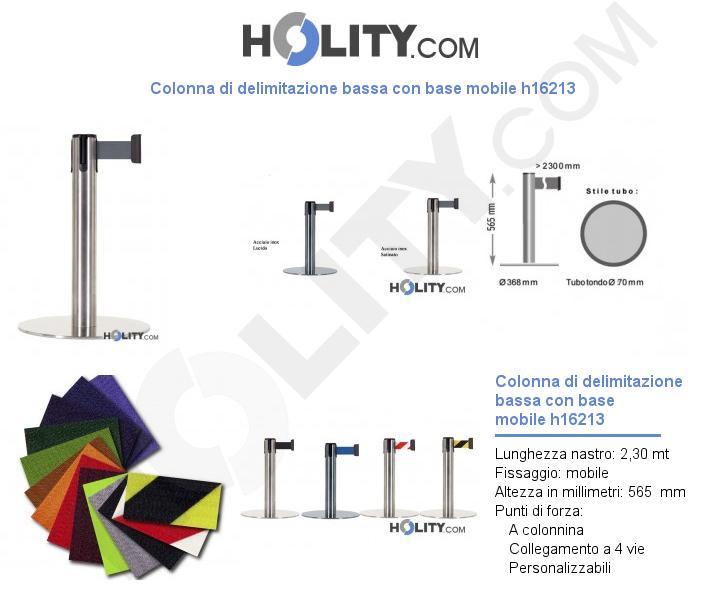 Colonna di delimitazione bassa con base mobile h16213