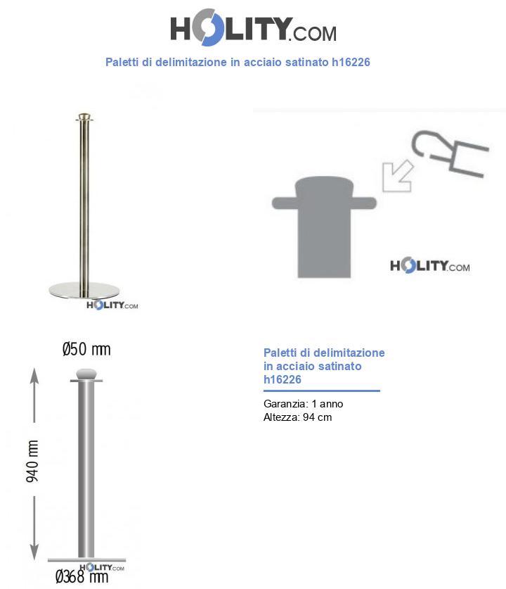 Paletti di delimitazione in acciaio satinato h16226