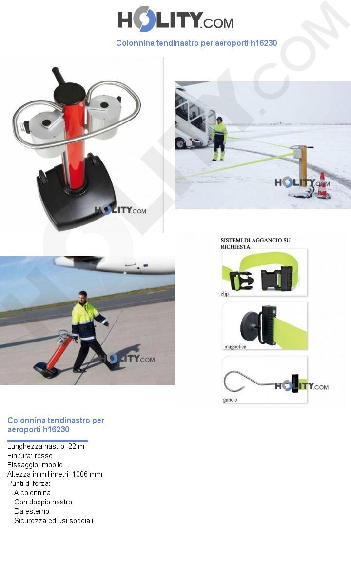 Colonnina tendinastro per aeroporti h16230